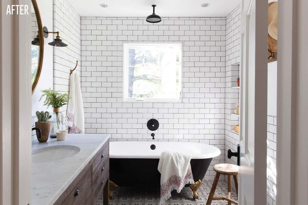 Napa Farmhouse Girl's Bathroom Remodel After Image