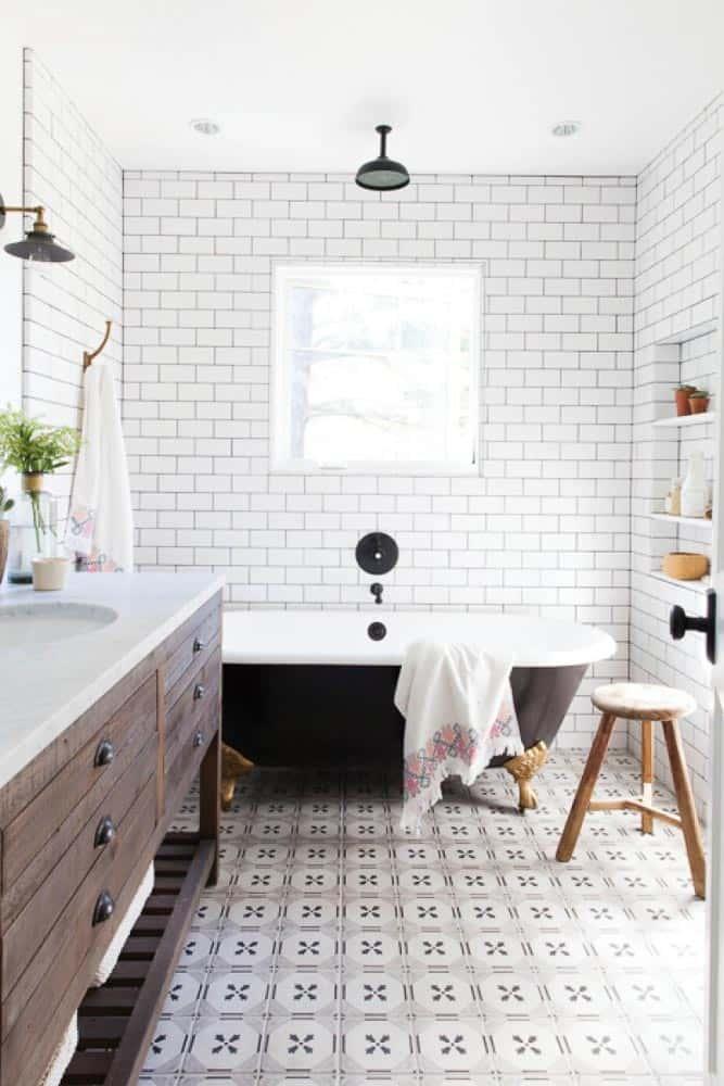 Napa Farmhouse Girl's Bathroom Remodel Image