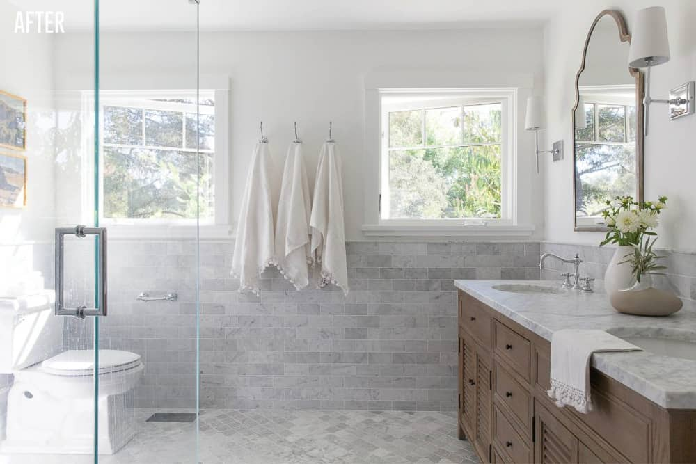 Napa Farmhouse Master Bathroom Remodel After Image