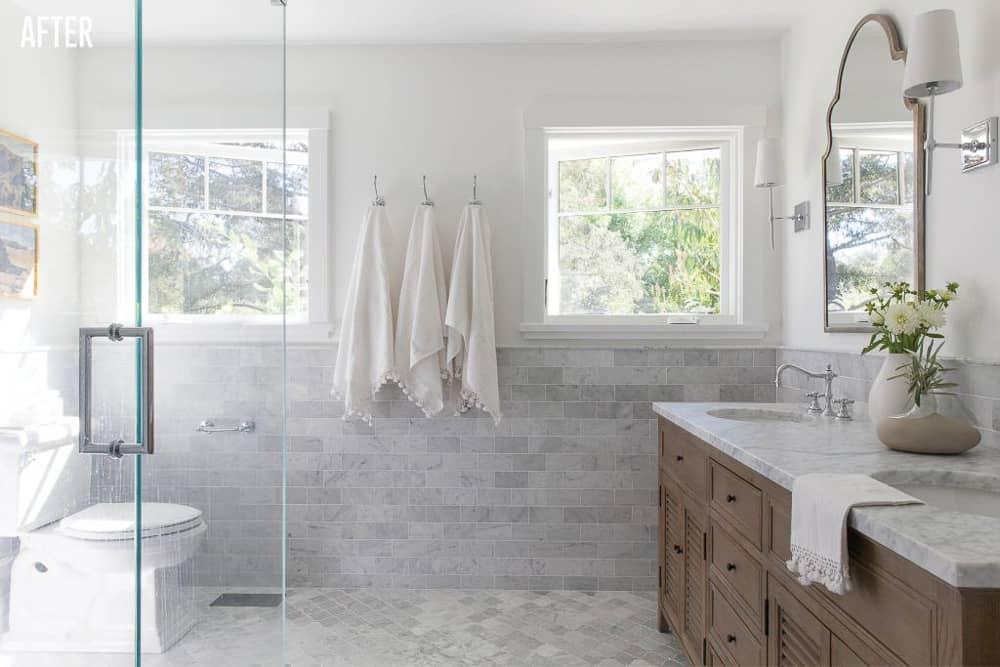 Napa Farmhouse Master Bathroom Remodel After Image