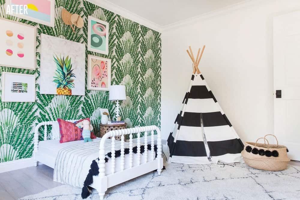 Napa Farmhouse Girl's Bedroom Remodel After Image