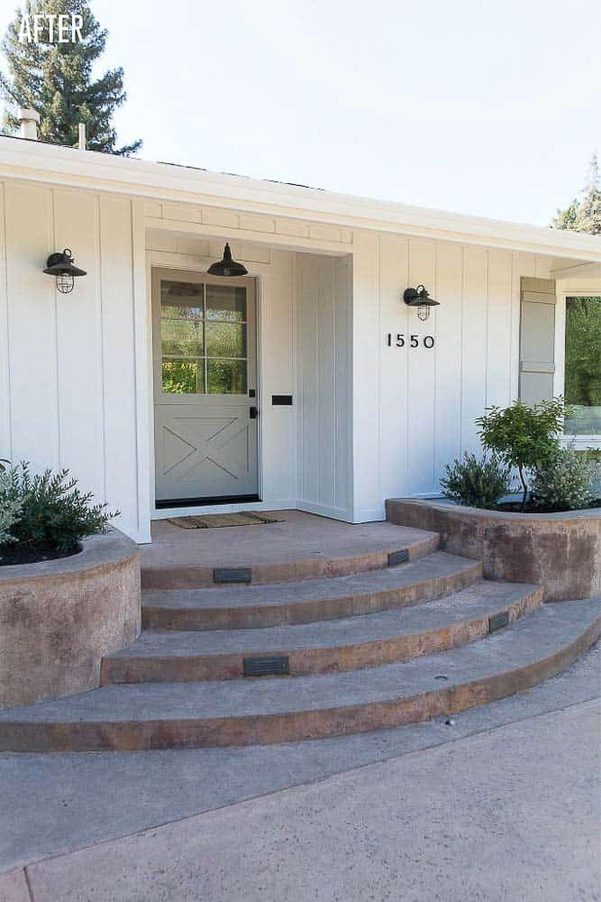 Napa Farmhouse Exterior Remodel After Image
