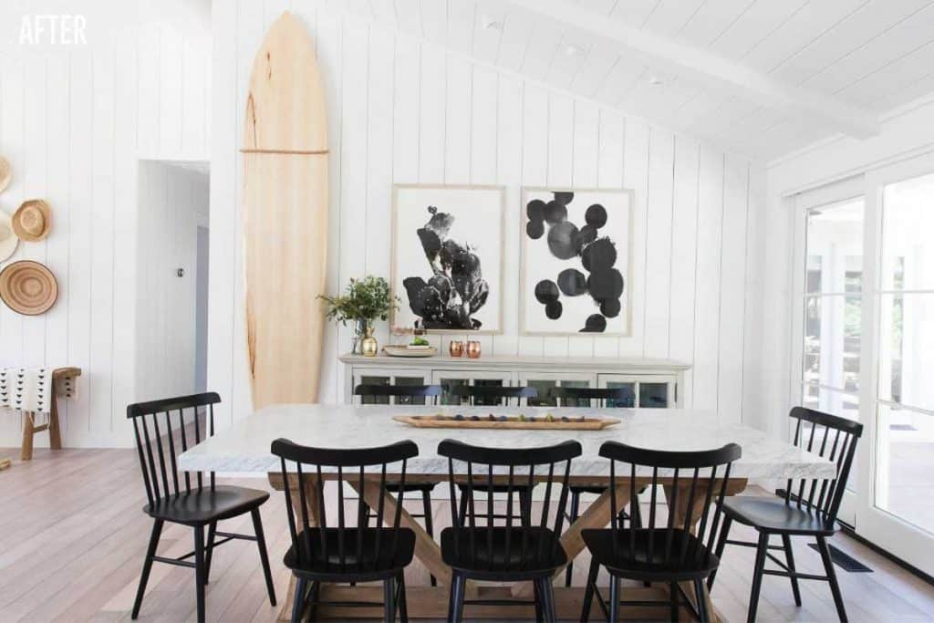 Napa Farmhouse Dining Room Remodel After Image