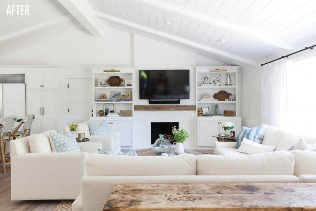 Napa Farmhouse Living Room Remodel After Image