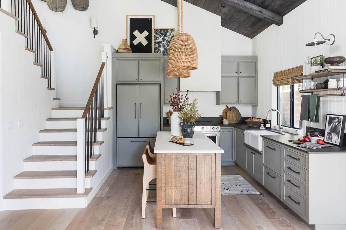 Lake Arrowhead Cabin Remodel Kitchen After Image - Lake House Kitchen Design