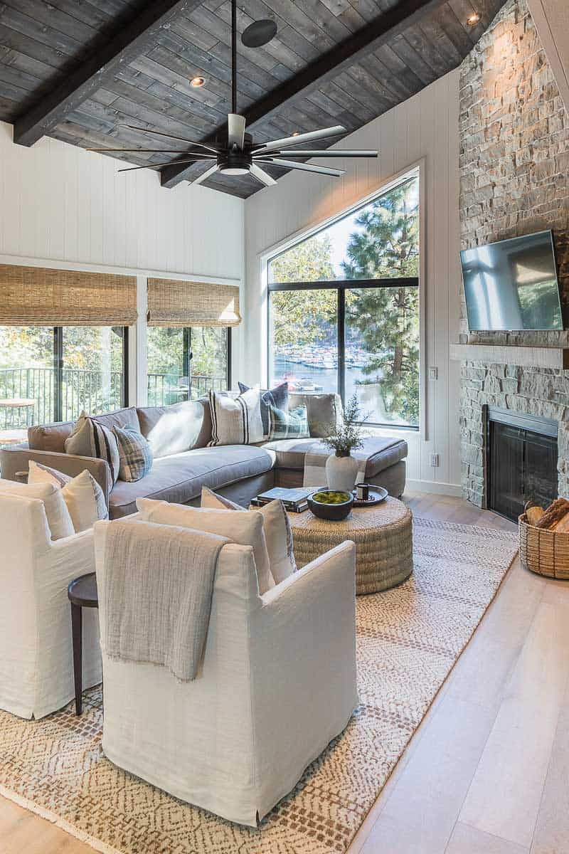 Lake Arrowhead Cabin Remodel Family Room After Image