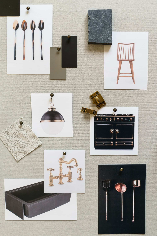 Dark Kitchen Mood Board - Mindy Gayer Design Co.