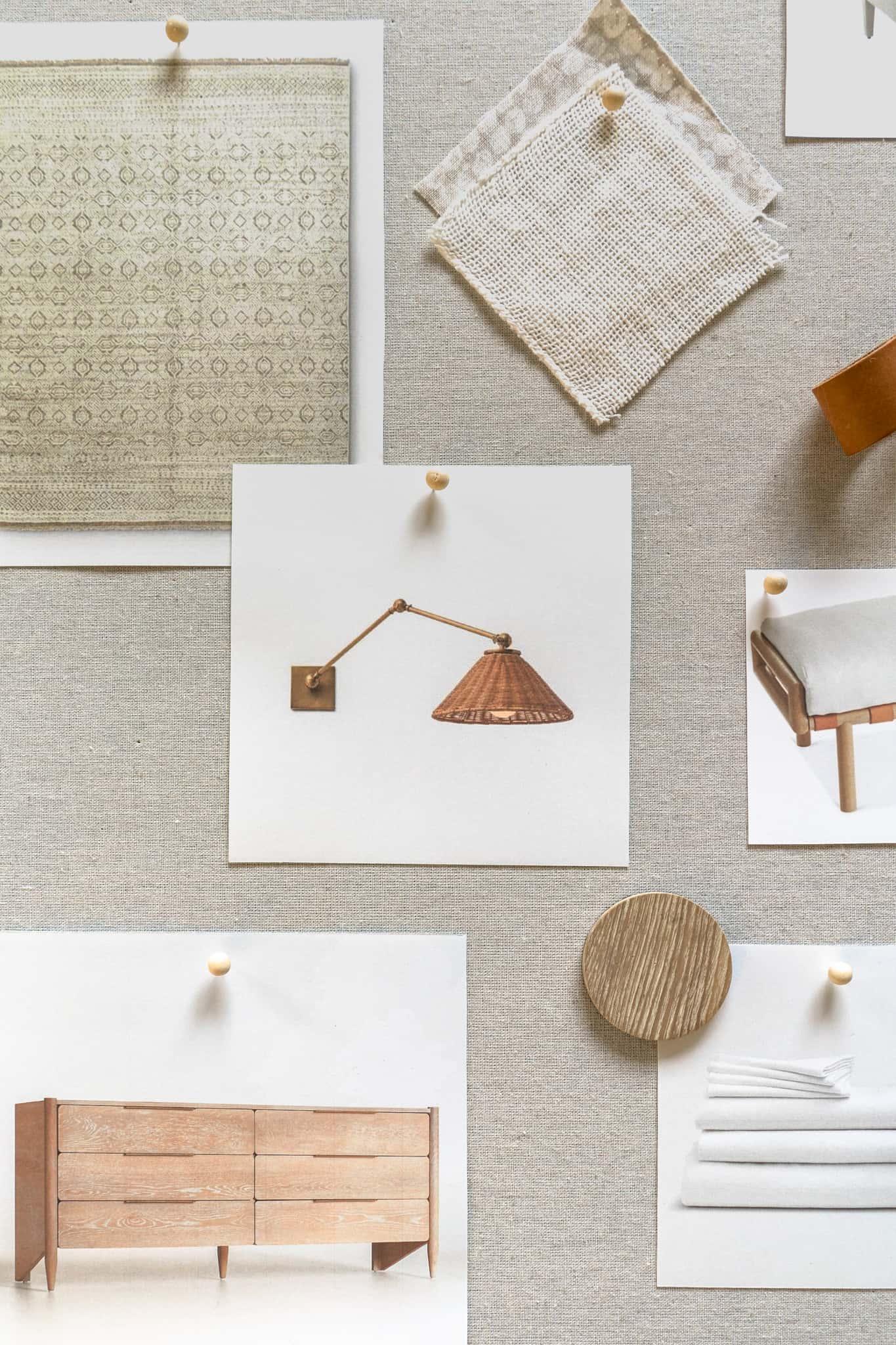 Neutral Bedroom Mood Board - Mindy Gayer Design Co.