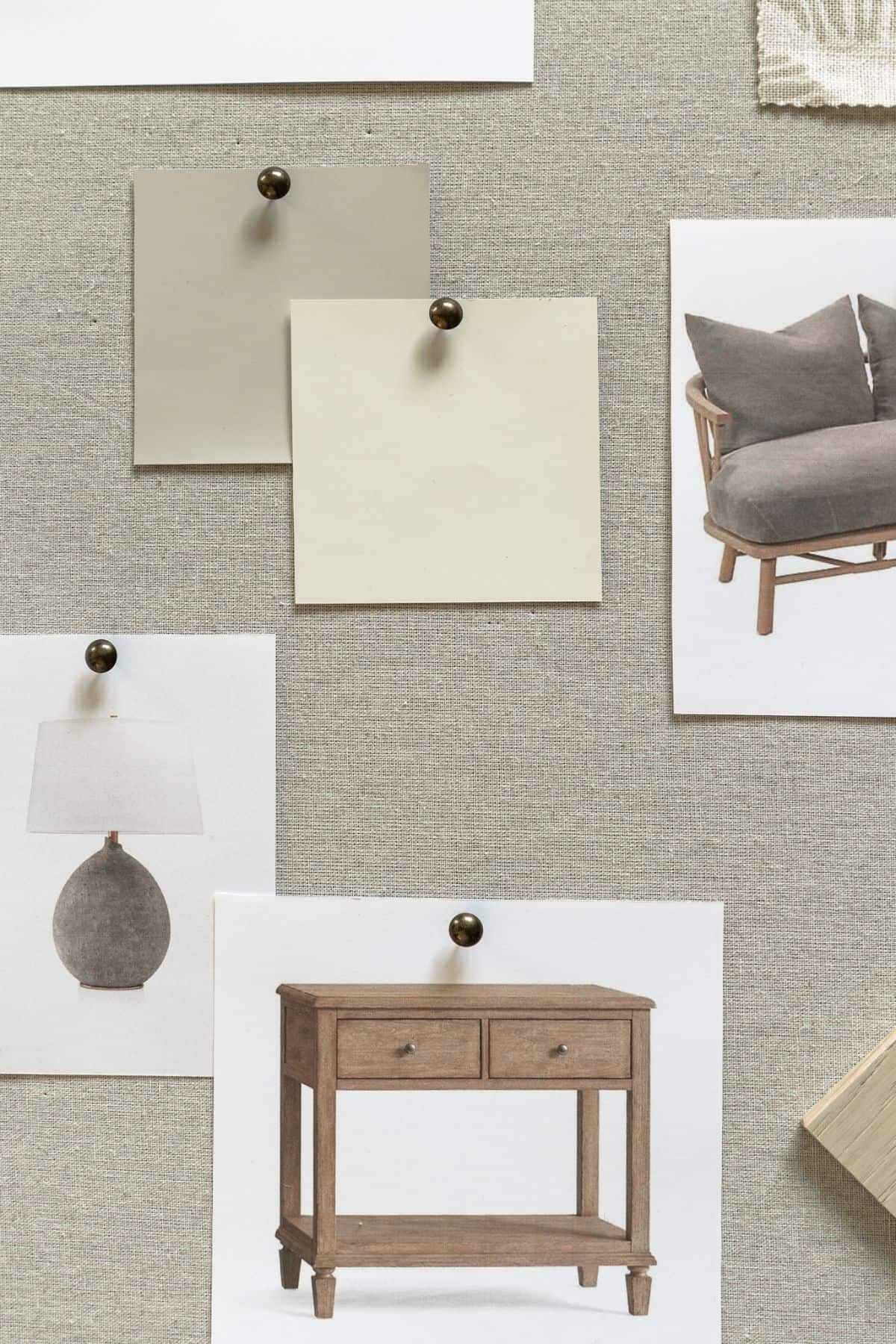 Gray Bedroom Mood Board - Mindy Gayer Design Co.
