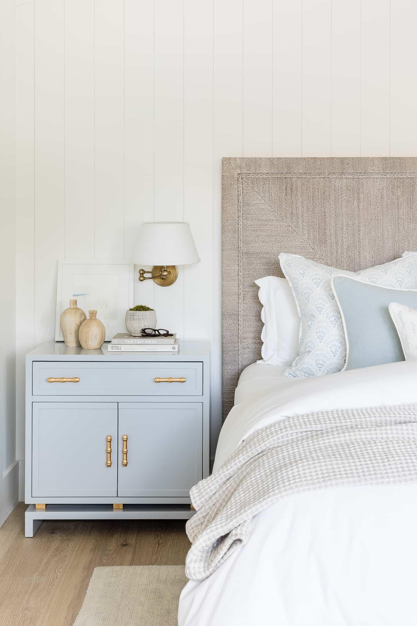 Coastal Bedroom Design - Port Newport Project - Mindy Gayer Design Co.
