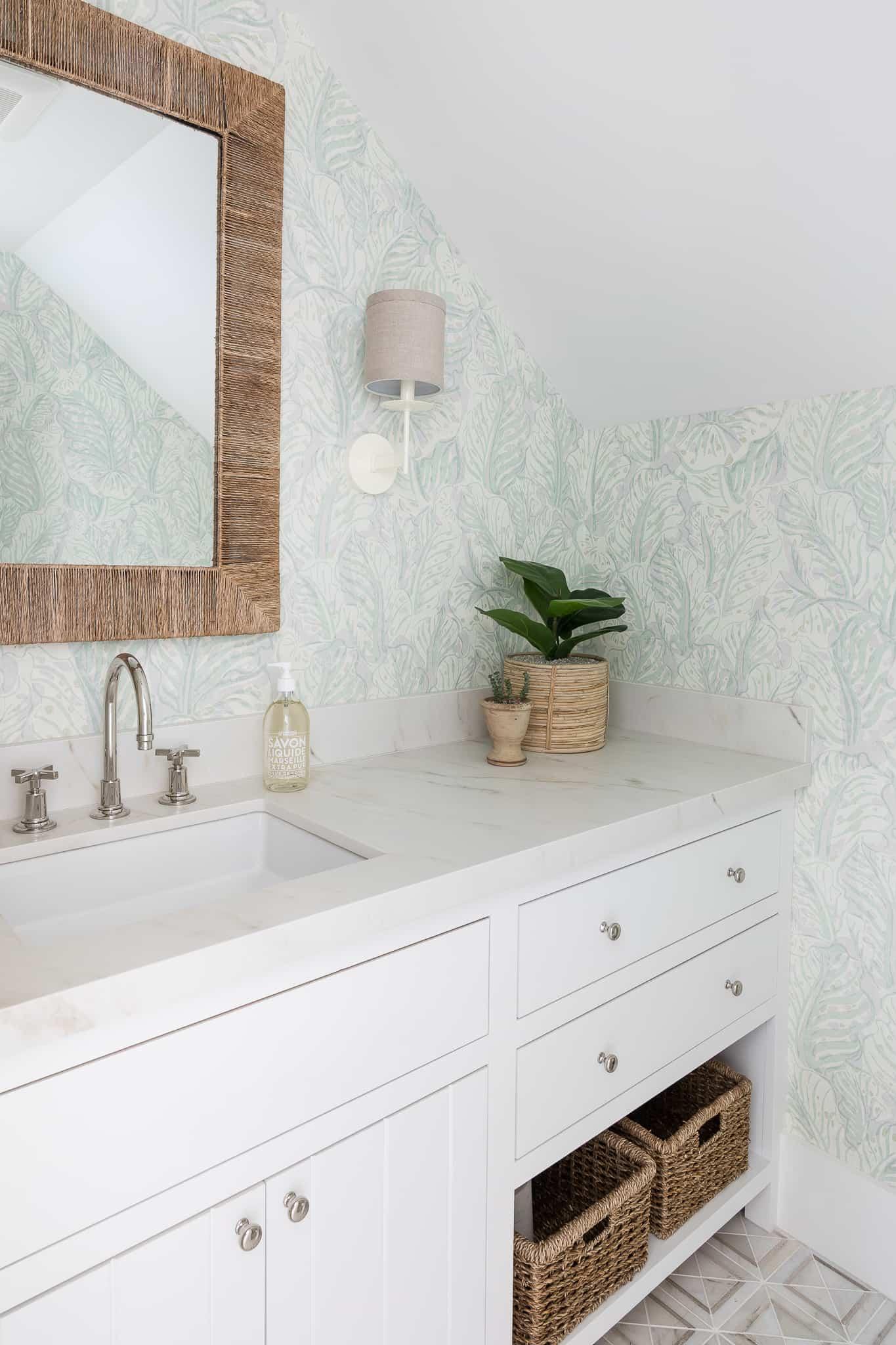 Port Newport Project - Mindy Gayer Design Co. - Coastal Family Home Powder Room