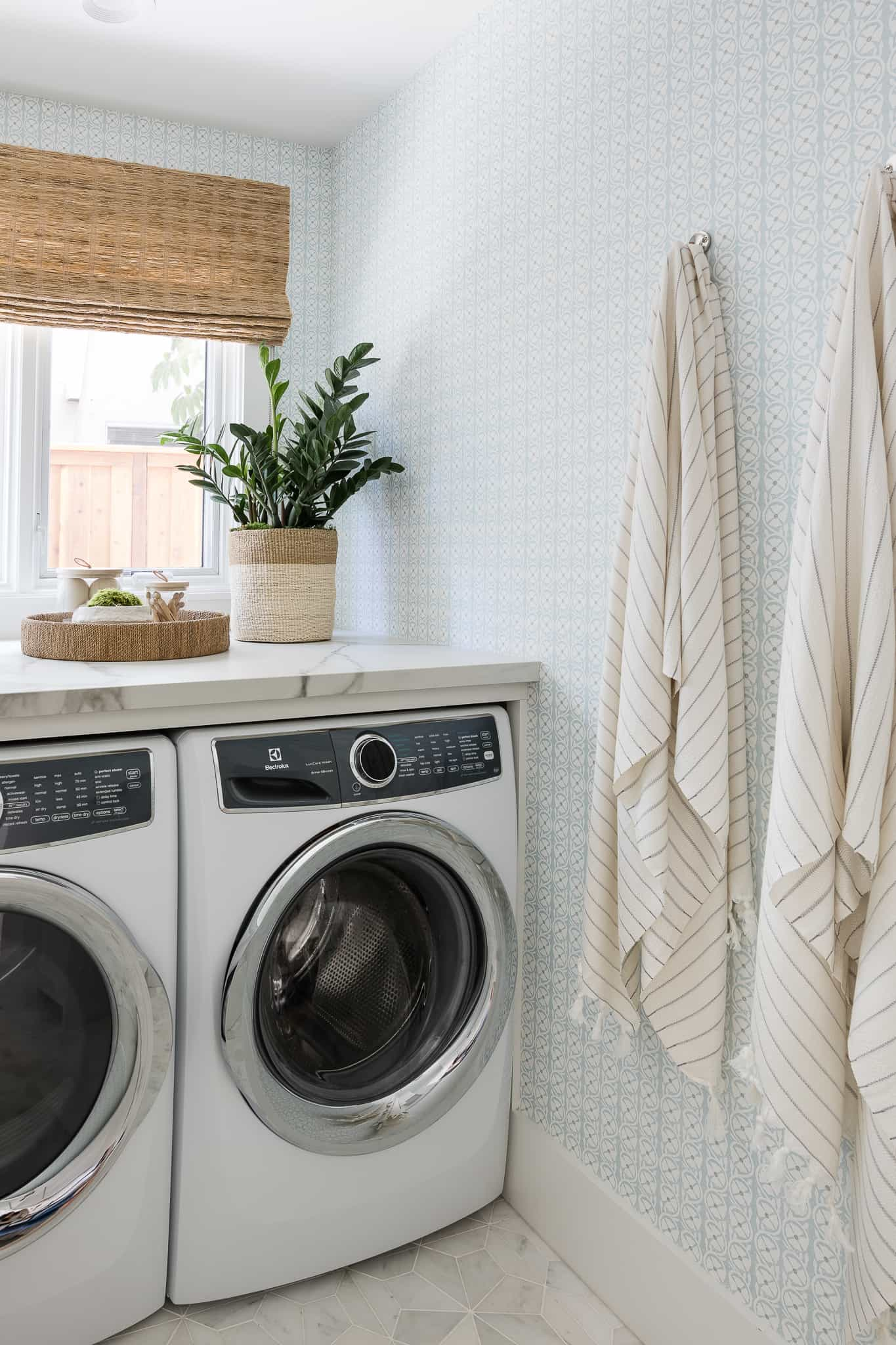 Port Newport Project - Mindy Gayer Design Co. - Coastal Family Home Laundry Room