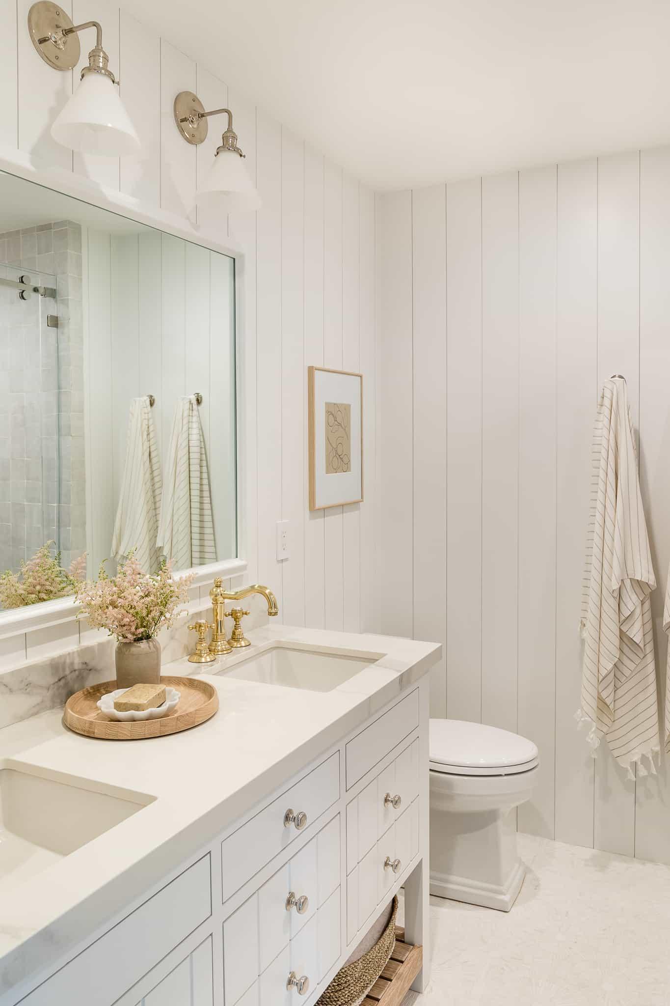 Coastal Bathroom Design - Port Newport Project - Mindy Gayer Design Co.