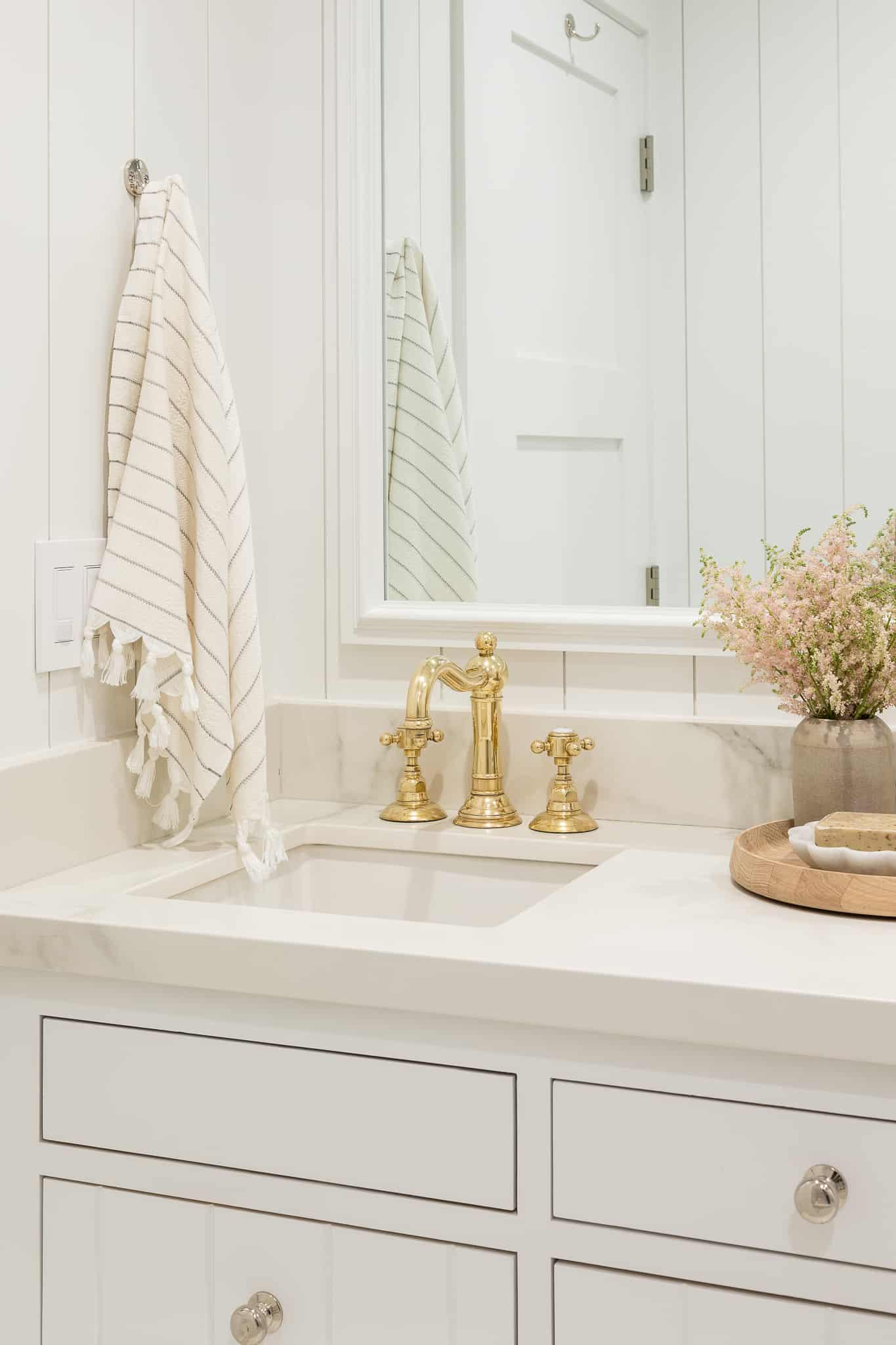 Coastal Girls Bathroom Design - Port Newport Project - Mindy Gayer Design Co.