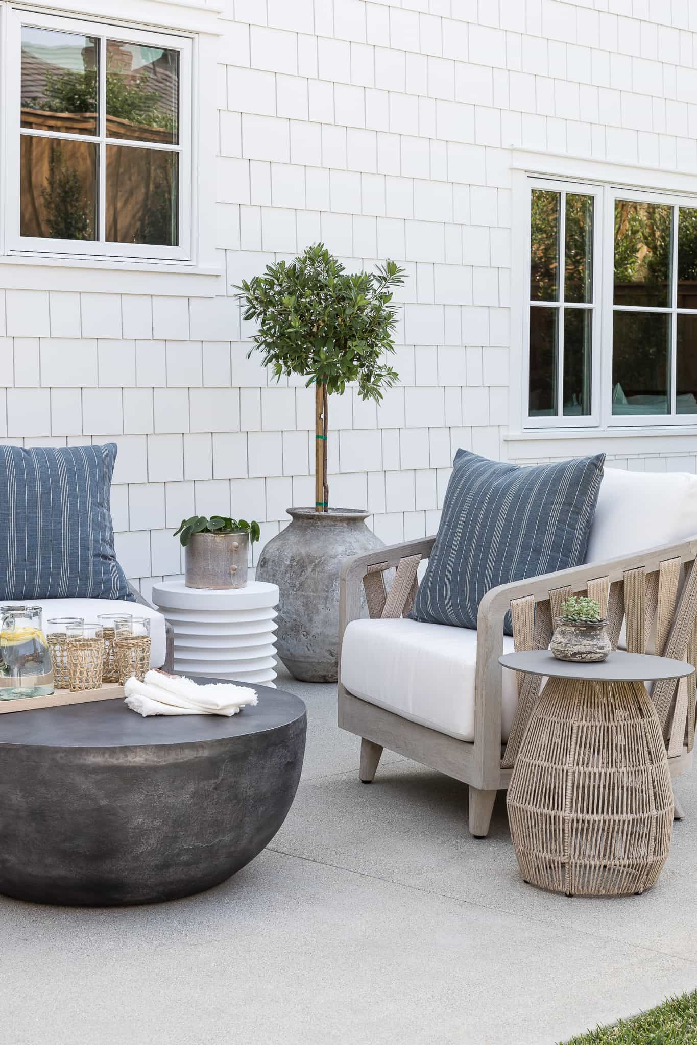 Outdoor Lounge Area - Port Newport Project - Mindy Gayer Design Co.