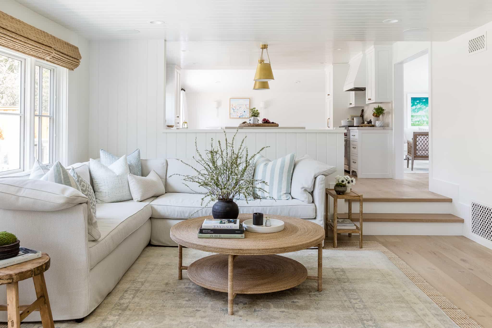 Port Newport Project - Mindy Gayer Design Co. - Coastal Family Home Living Room