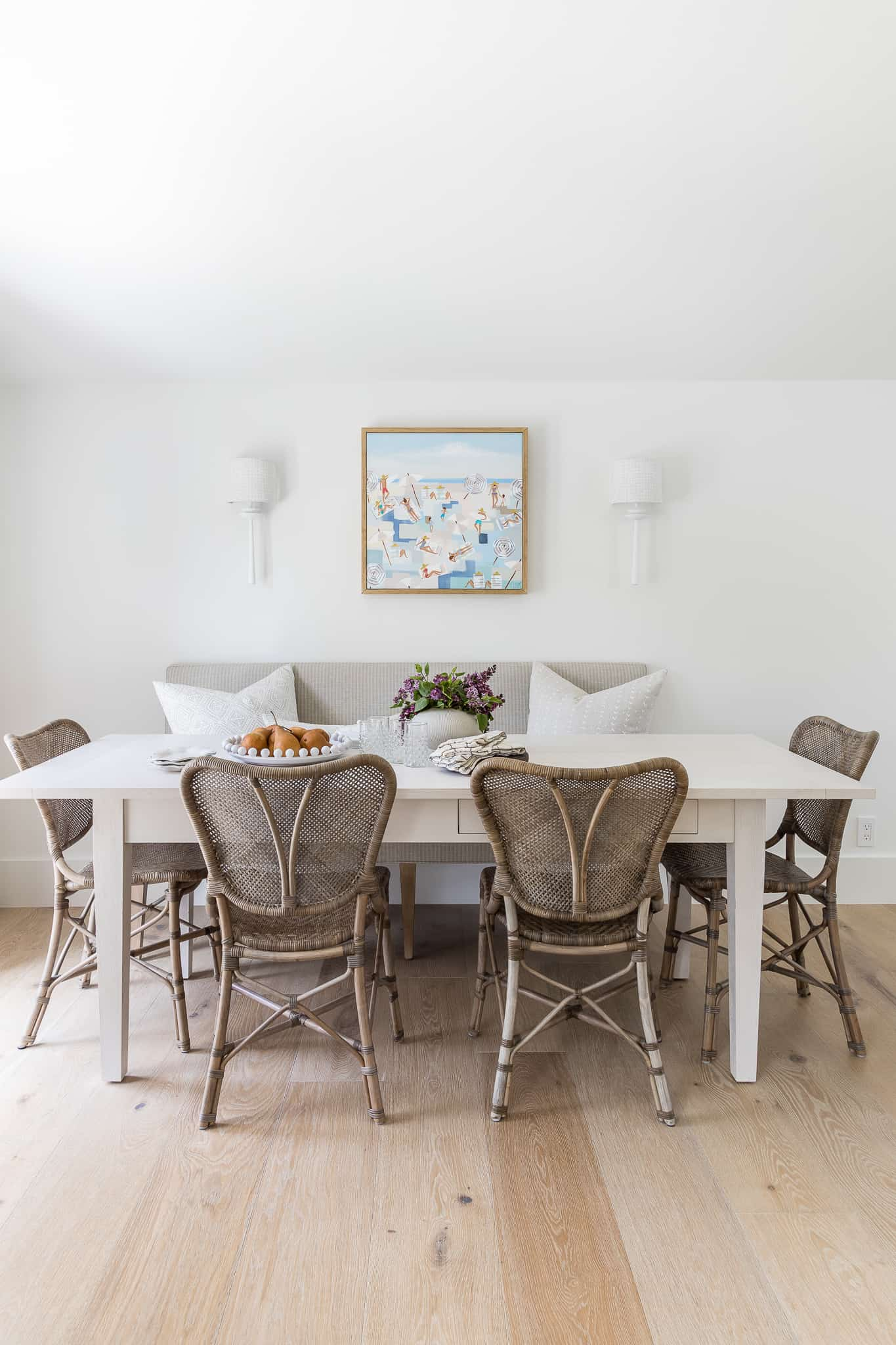 Port Newport Project - Mindy Gayer Design Co. - Coastal Family Kitchen Nook