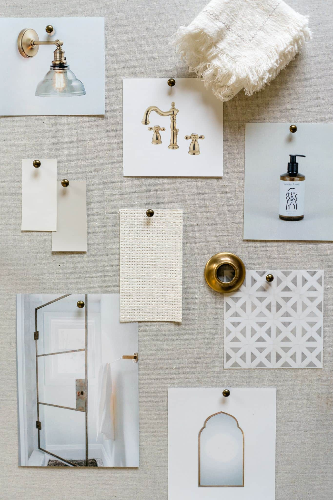 Light Bathroom Mood Board - Mindy Gayer Design Co.