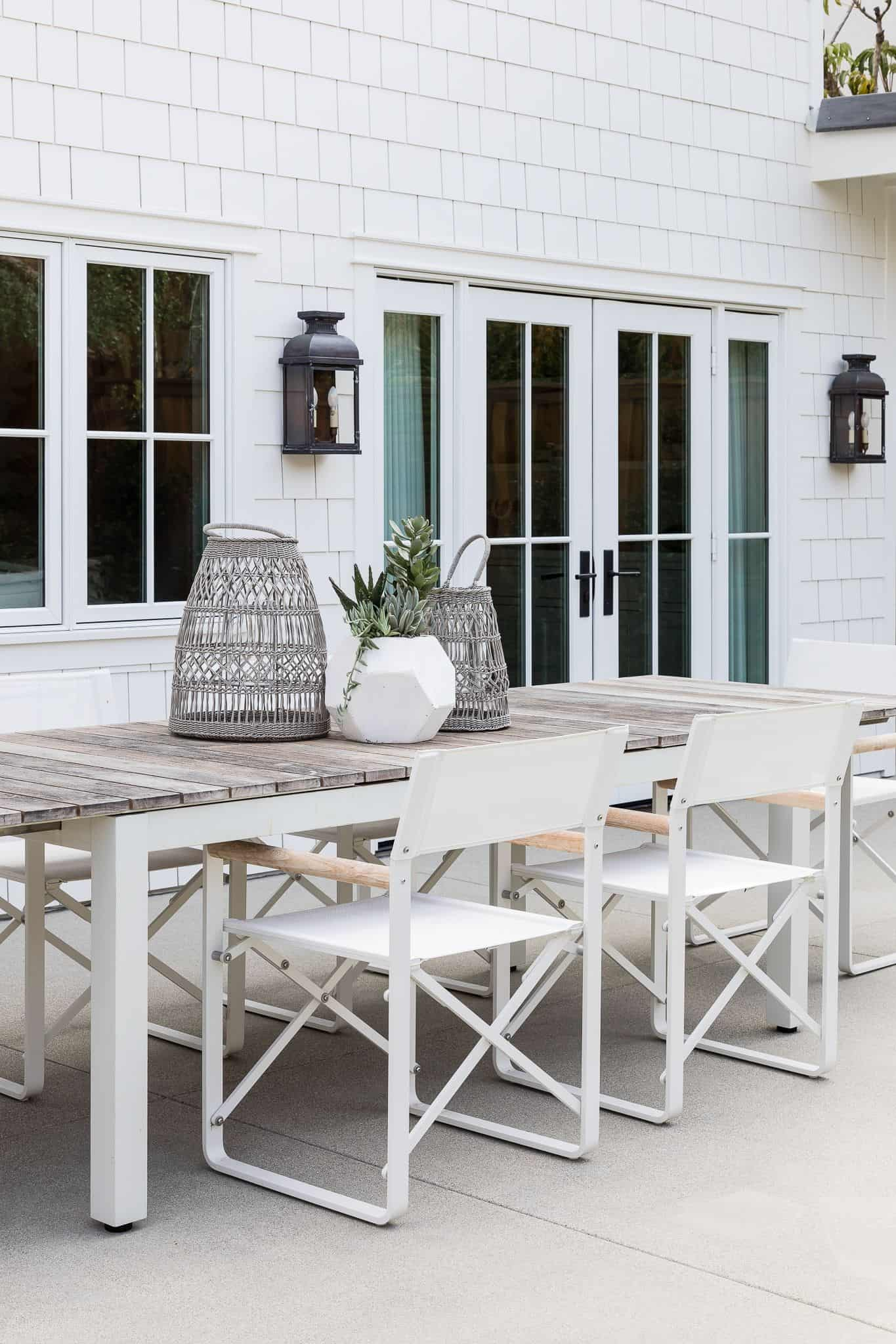 Outdoor Dining Area - Port Newport Project - Mindy Gayer Design Co.